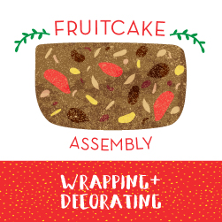 Fruitcake Assembly: Wrapping+Decorating